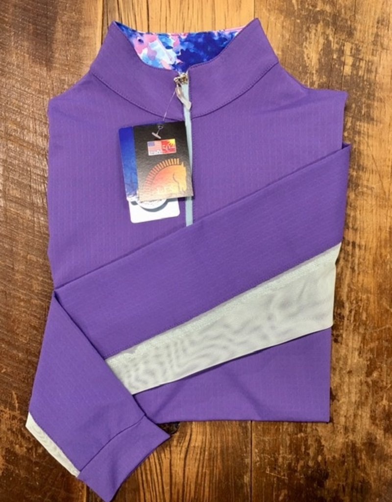 EIS EIS Stand Up Collar COOL Shirt Violet/Seabreeze with Watercolors