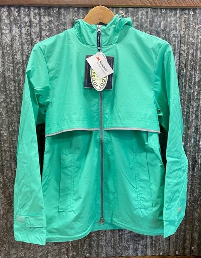 Charles River Charles River Women's New Englander Rain Jacket Mint/Reflective