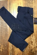 Ovation Ovation Child's Aerowick Silicone Knee Patch Tights Navy