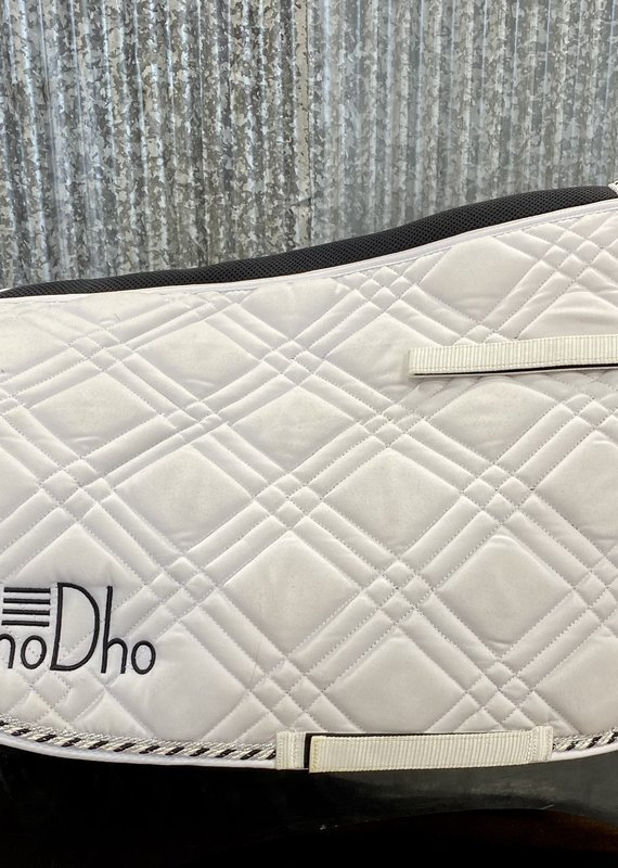 GhoDho GhoDho Jump Saddle Pad White/Black/Silver