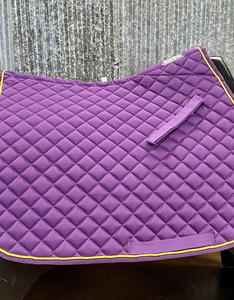 Roma Roma Contrast Piping All Purpose Saddle Pad Purple/Lime