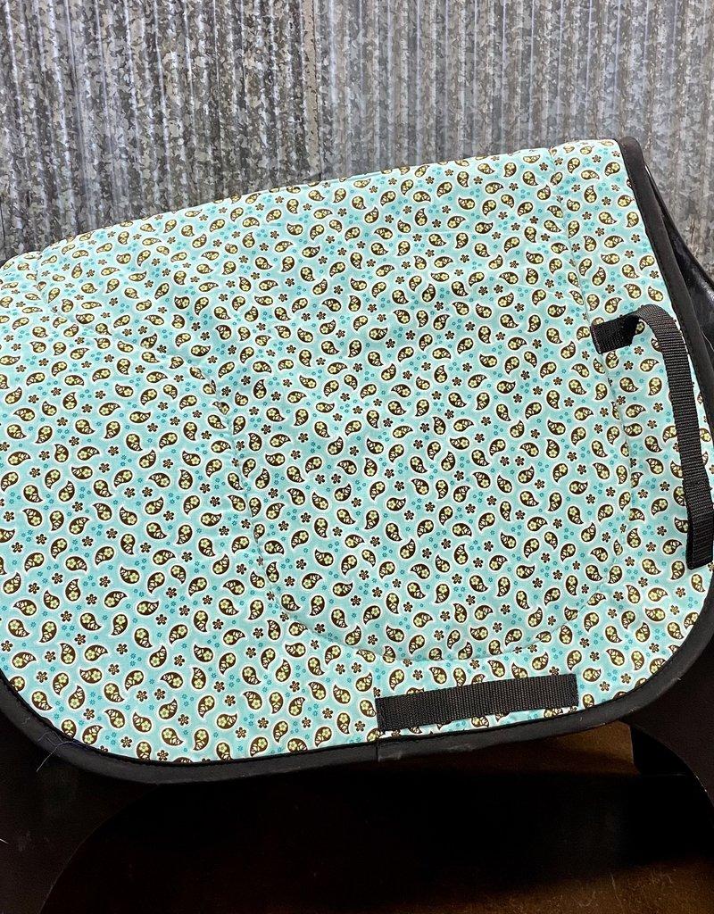 Toklat Toklat Fun Print Saddle Pad Aqua Paisley