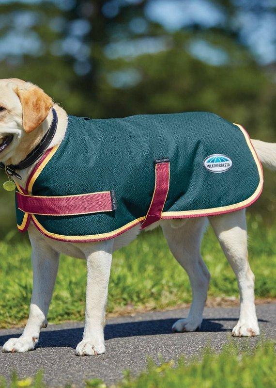 Weatherbeeta Weatherbeeta Comfitec Parka 1200D Dog Coat Teal/Cerise/Yellow