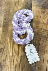 Harry Barker Harry Baker Striped Tri-Ring Rope Dog Toy Lavender
