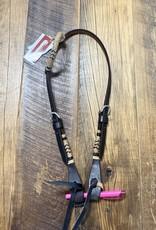 Martin  Saddlery Martin Saddlery Herman Oak Leather One Ear Chocolate/Rawhide