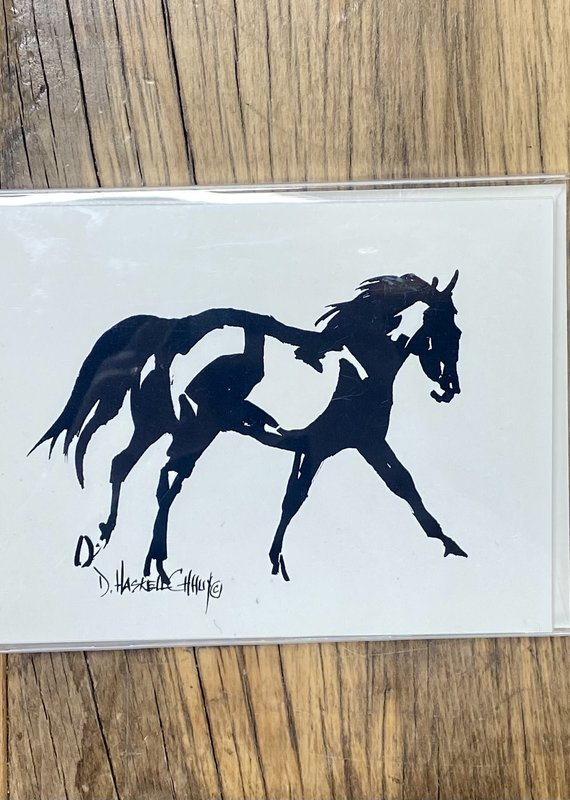 D. Haskell Chhuy D. Haskell Chhuy Black and White Horse Cards (4 Designs)