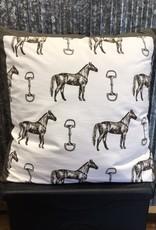Horse & Snaffle Throw Pillow