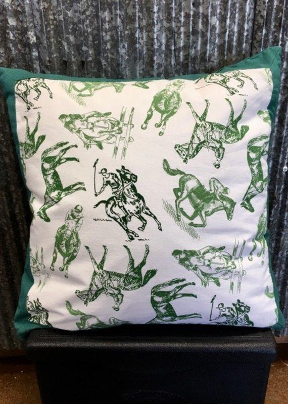 Equestrian Sketch Throw Pillow