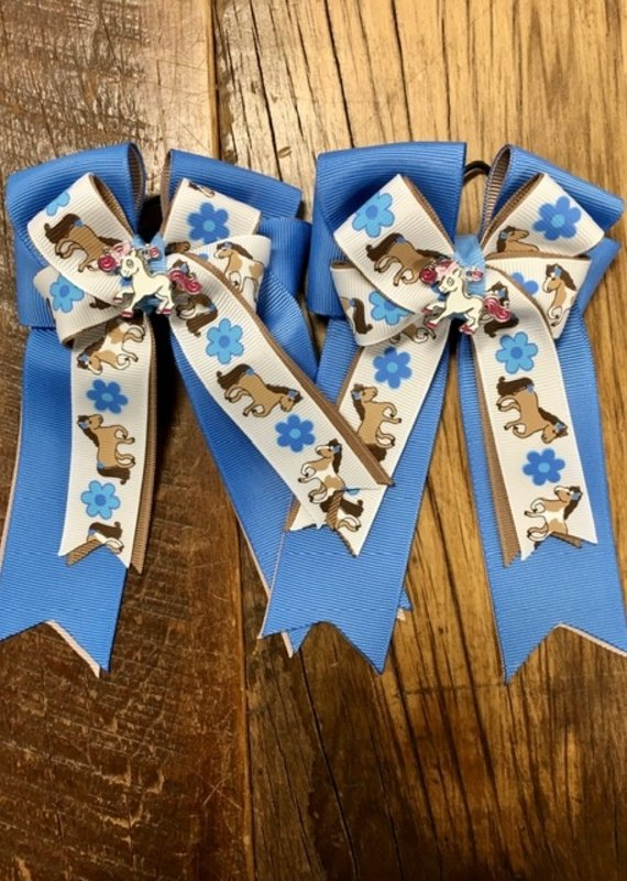 Belle & Bows Belle & Bow Flower Power Pony Bows