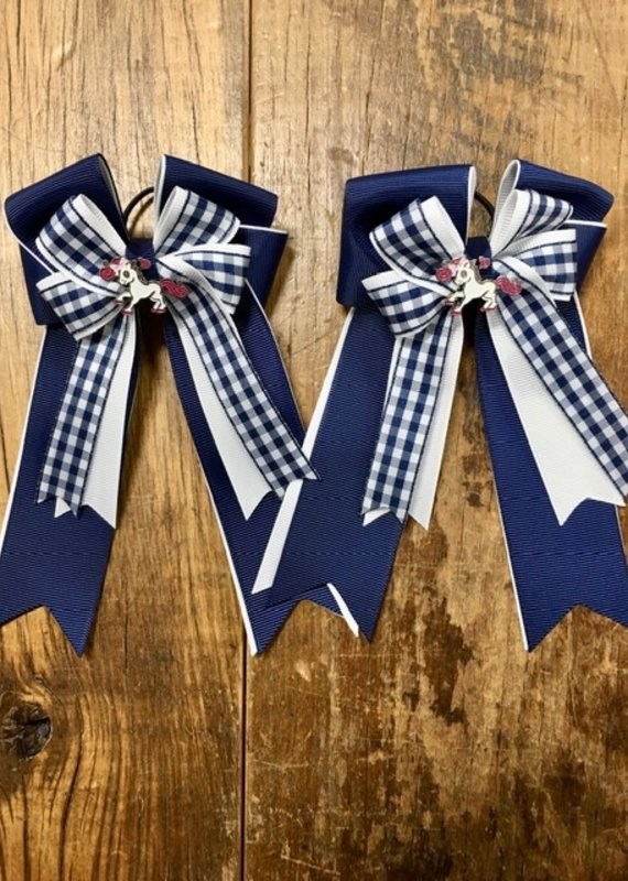 Belle & Bows Belle & Bow Smarties Navy Bows