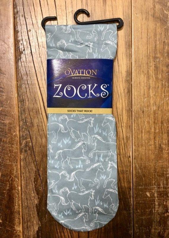 Ovation Ovation Ladies Zocks Grey Gallop Boot Sock