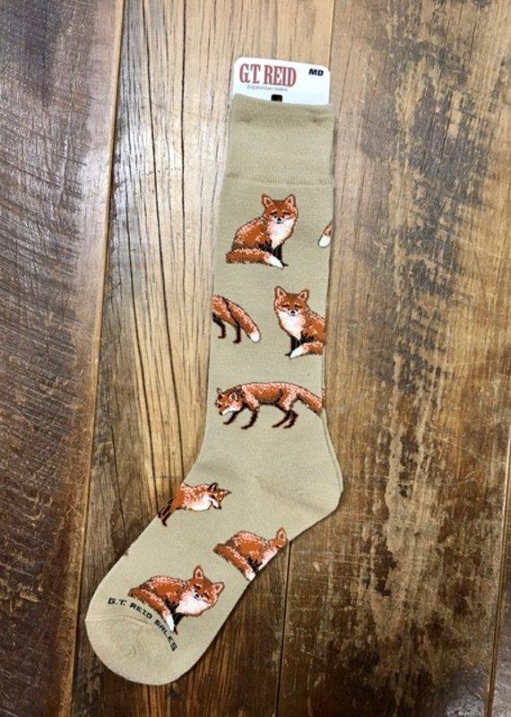 G.T Reid Tan Fox Trot Adult Socks