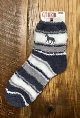 G.T Reid Fuzzy Striped Horse Adult Sock