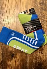 Ariat Ariattek Ladies Slimline Performance Socks Blue/Lime Green