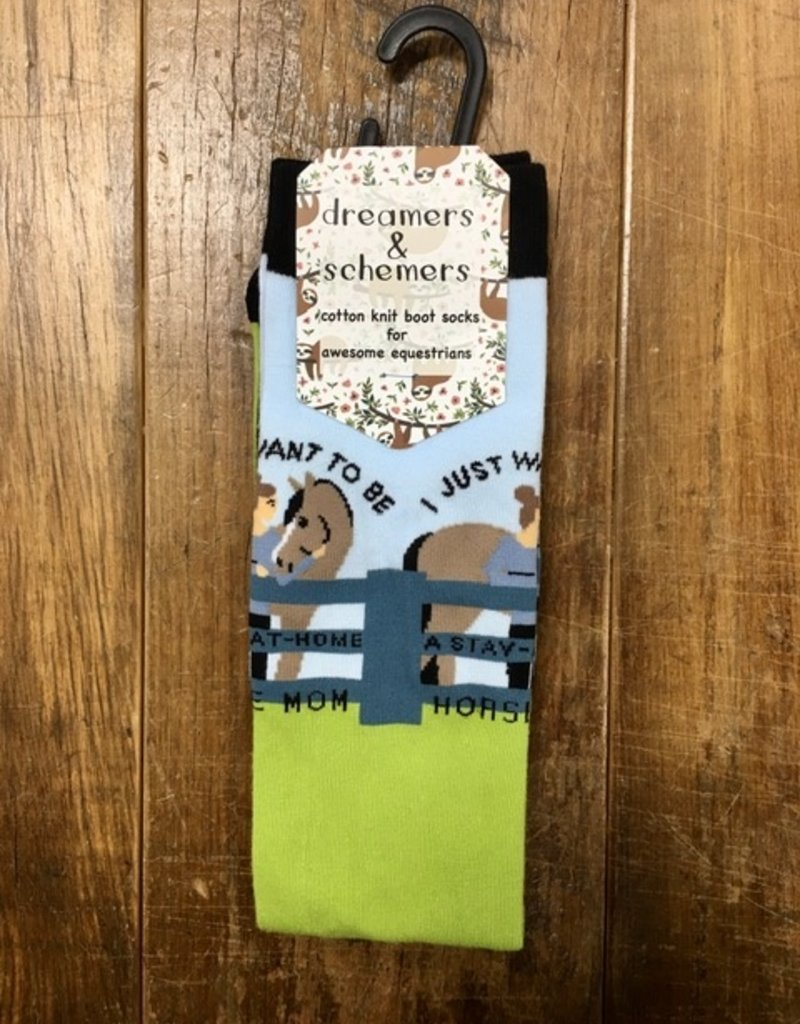 Dreamers & Schemers Dreamers & Schemers Stay At Home Horse Mom Knit Sock
