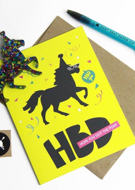 Hunt Seat Paper Co. Happy Birthday Pony Charm Greeting Card