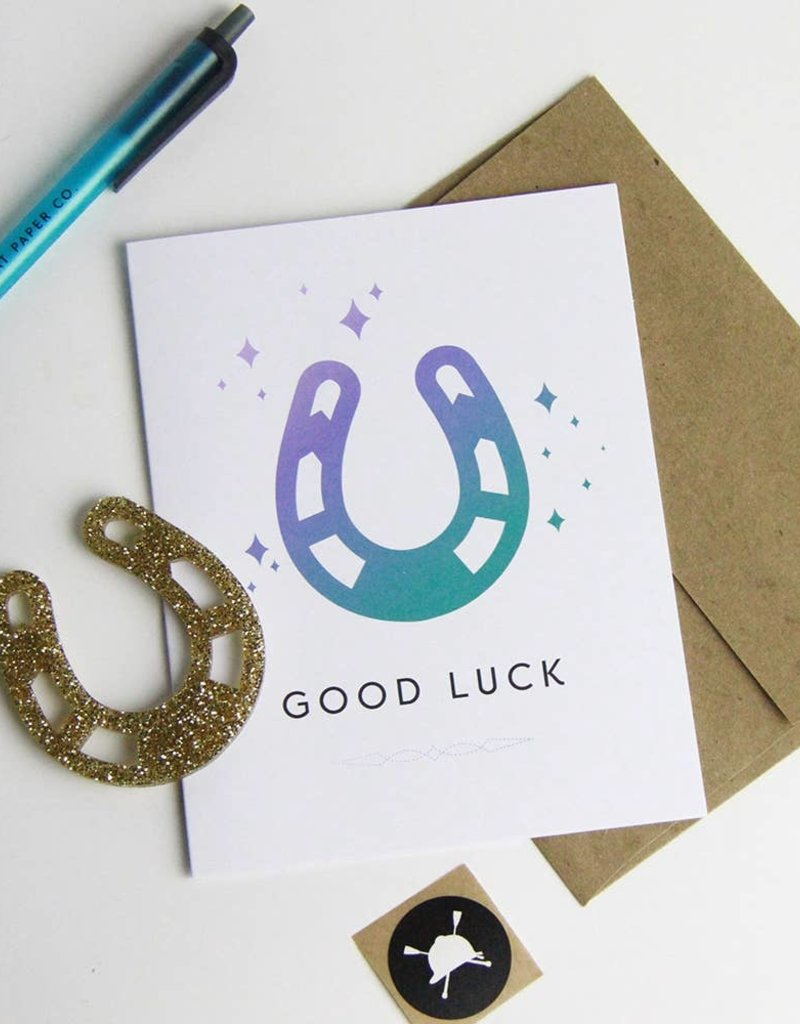 Hunt Seat Paper Co. Good Luck Greeting Card