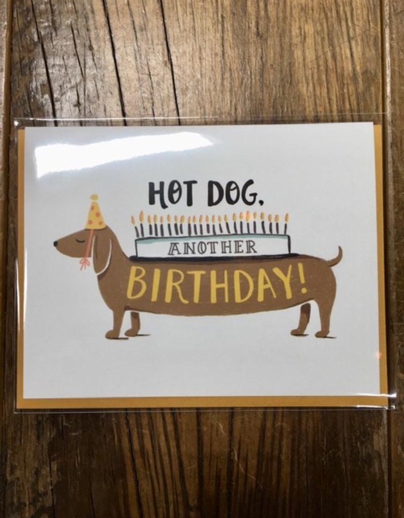 Paper Pony Hot Dog Birthday Card