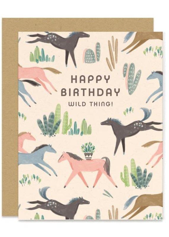 Paper Pony Wild Thing Birthday Card