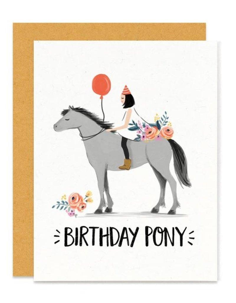 Paper Pony Birthday Pony Card