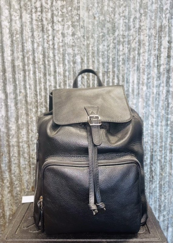 The Tailored Sportsman The Tailored Sportsman Sporty Black Leather Backpack