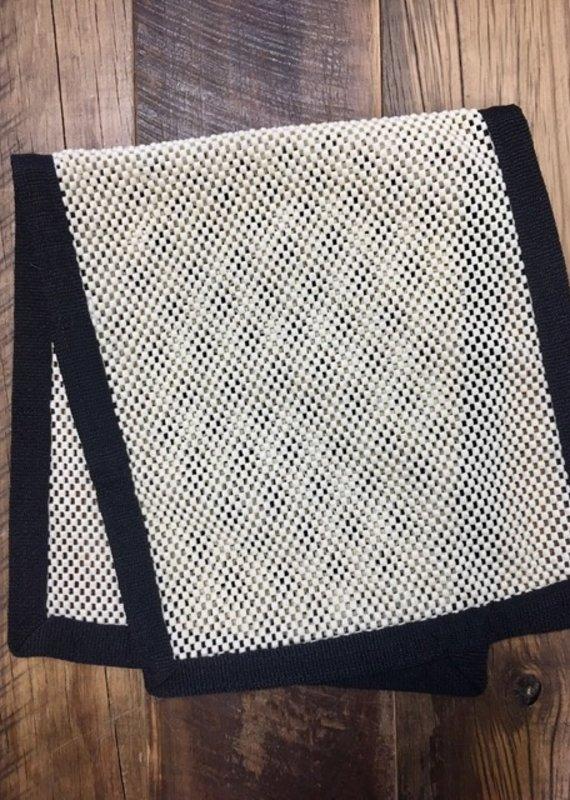 Equine Textiles Equine Textiles No Slip Saddle Towel Black