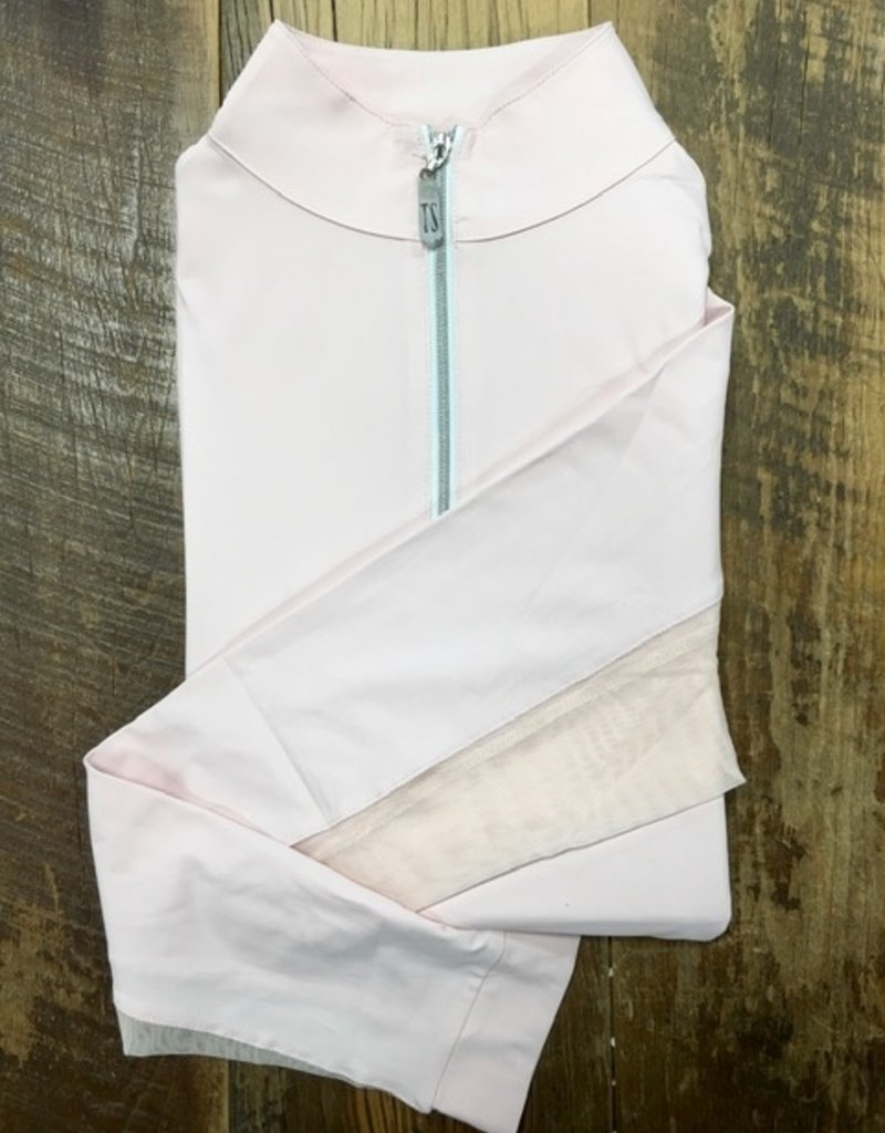 The Tailored Sportsman The Tailored Sportsman Ladies Icefil Long Sleeve Pretty Pink/Silver White