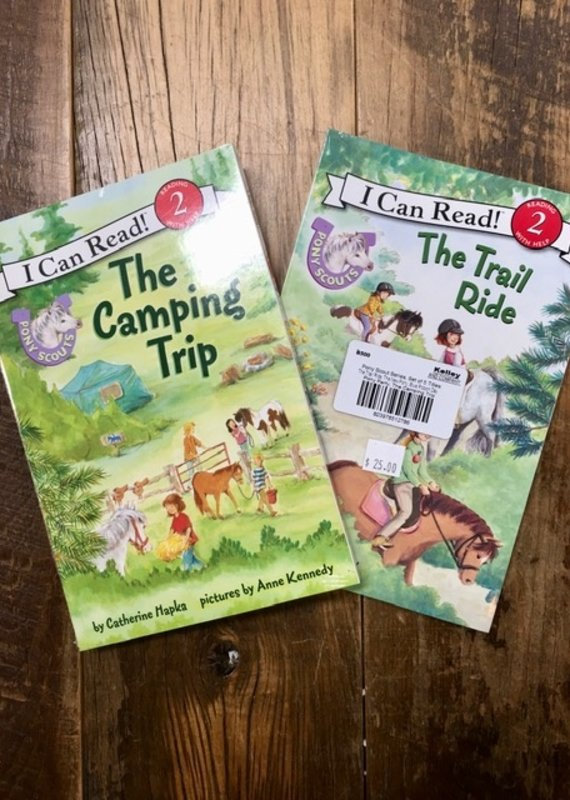 I Can Read Pony Scout Series (Set Of 5- The Trail Ride, The New Pony, Blue Ribbon Day, Pony Party, The Camping Trip)
