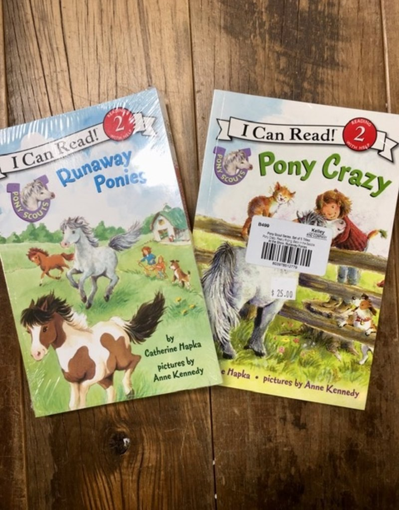 I Can Read Pony Scout Series (Set Of 5- Pony Crazy, Really Riding, Back in the Saddle, At the Show, Runaway Ponies)