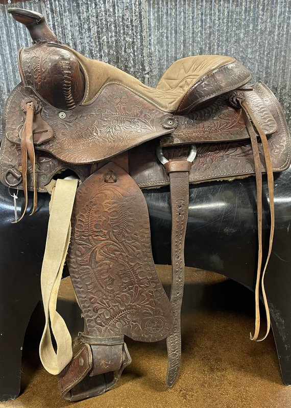 """Consignment Saddle # 411 Western 16"""""""