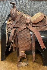 """Consignment Saddle # 412 Basket Weave Western 16"""""""