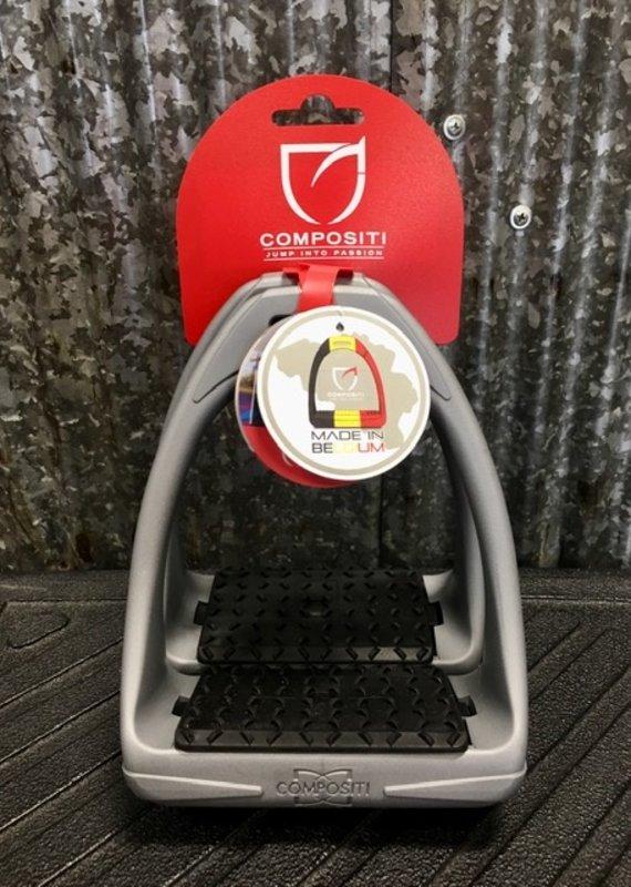 Compositi Compositi Reflex 3D Wide Track Grey Adult Stirrups