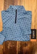 Kerrits Kerrits Kids Ice Fil Lite Long Sleeve Shirt Icelandic Blue Diamond
