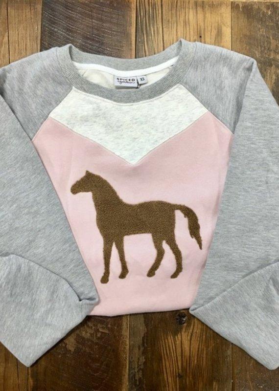 Spiced Equestrian Spiced Equestrian Heart Horse Sweatshirt