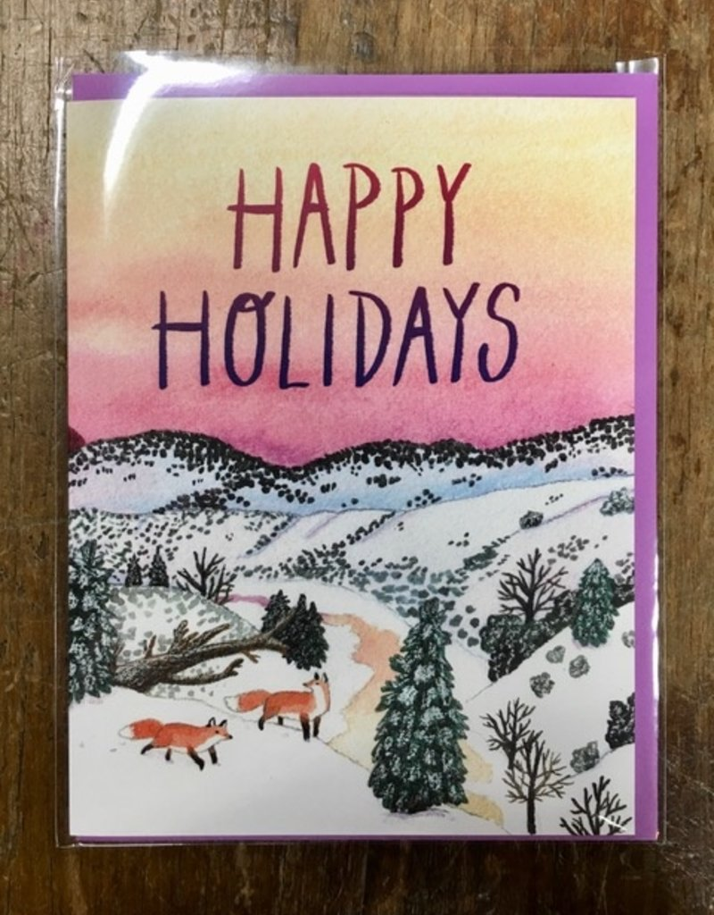 Cactus Club Paper Holiday Foxes Card