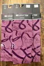 Ariat Ariat Tek Ultrathin Boot Socks Ash Rose Bridle