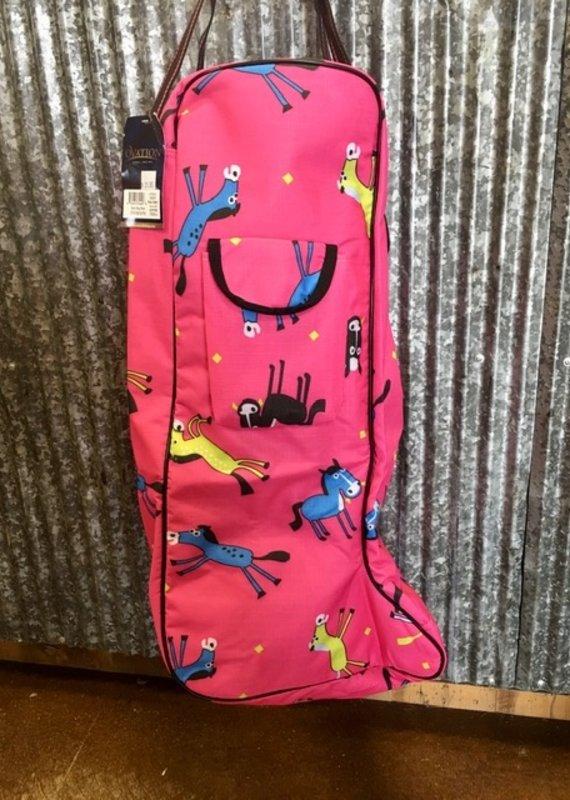 Ovation Centaur Berry Pony Print Boot Bag