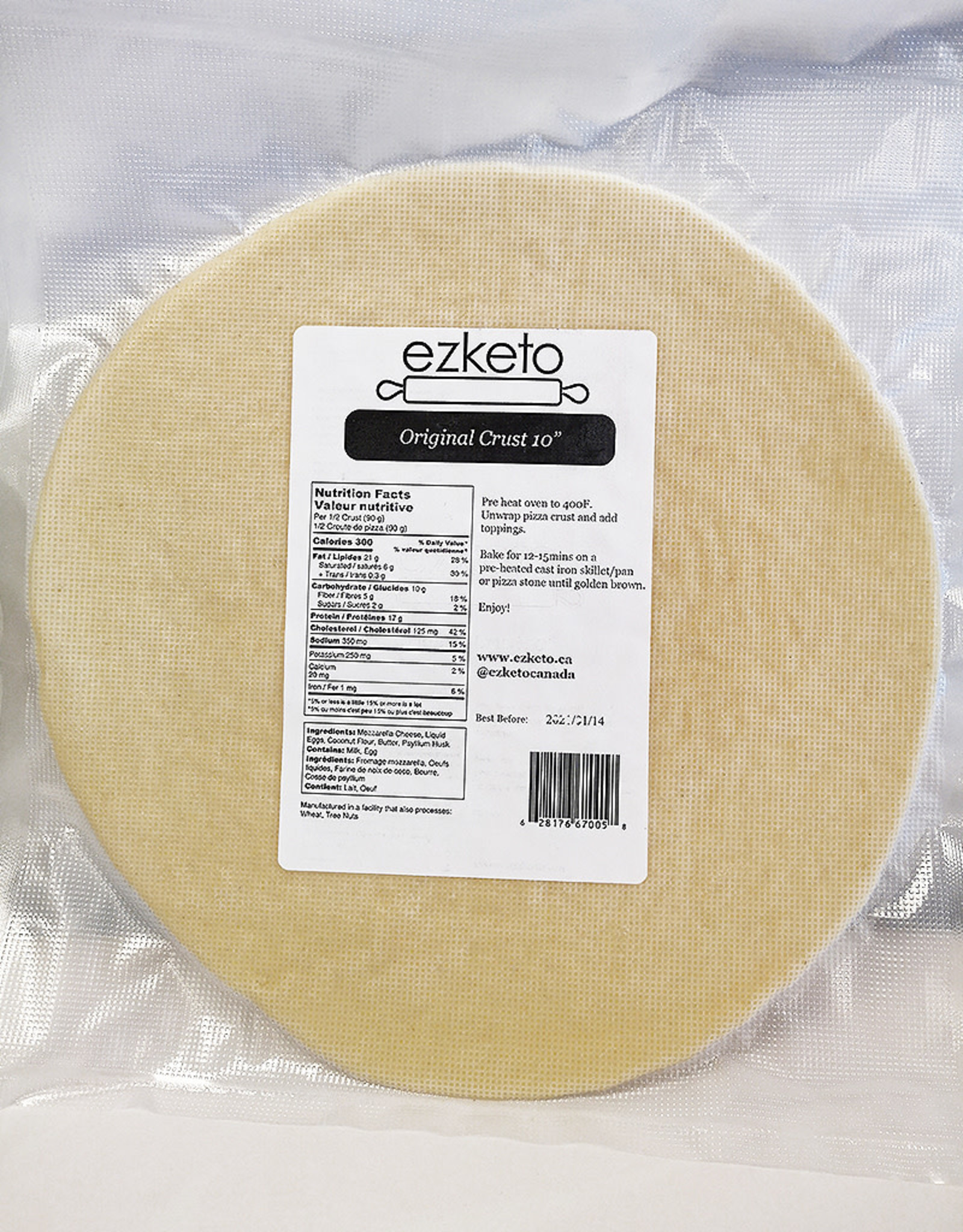 Ezketo Ezketo - Pizza Crust, Original (10in)