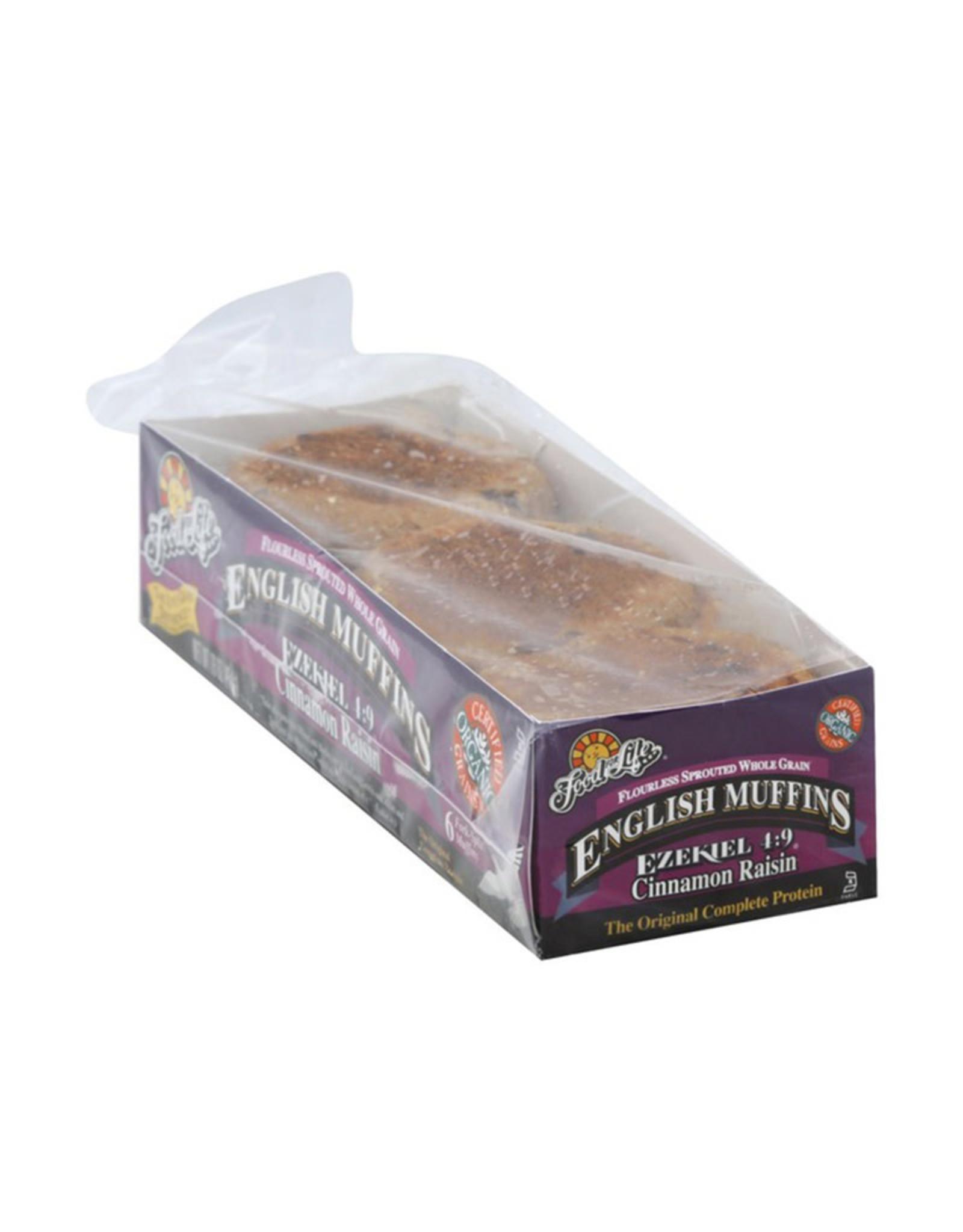 Food For Life FFL - English Muffin, Ezekiel Cinnamon Raisin