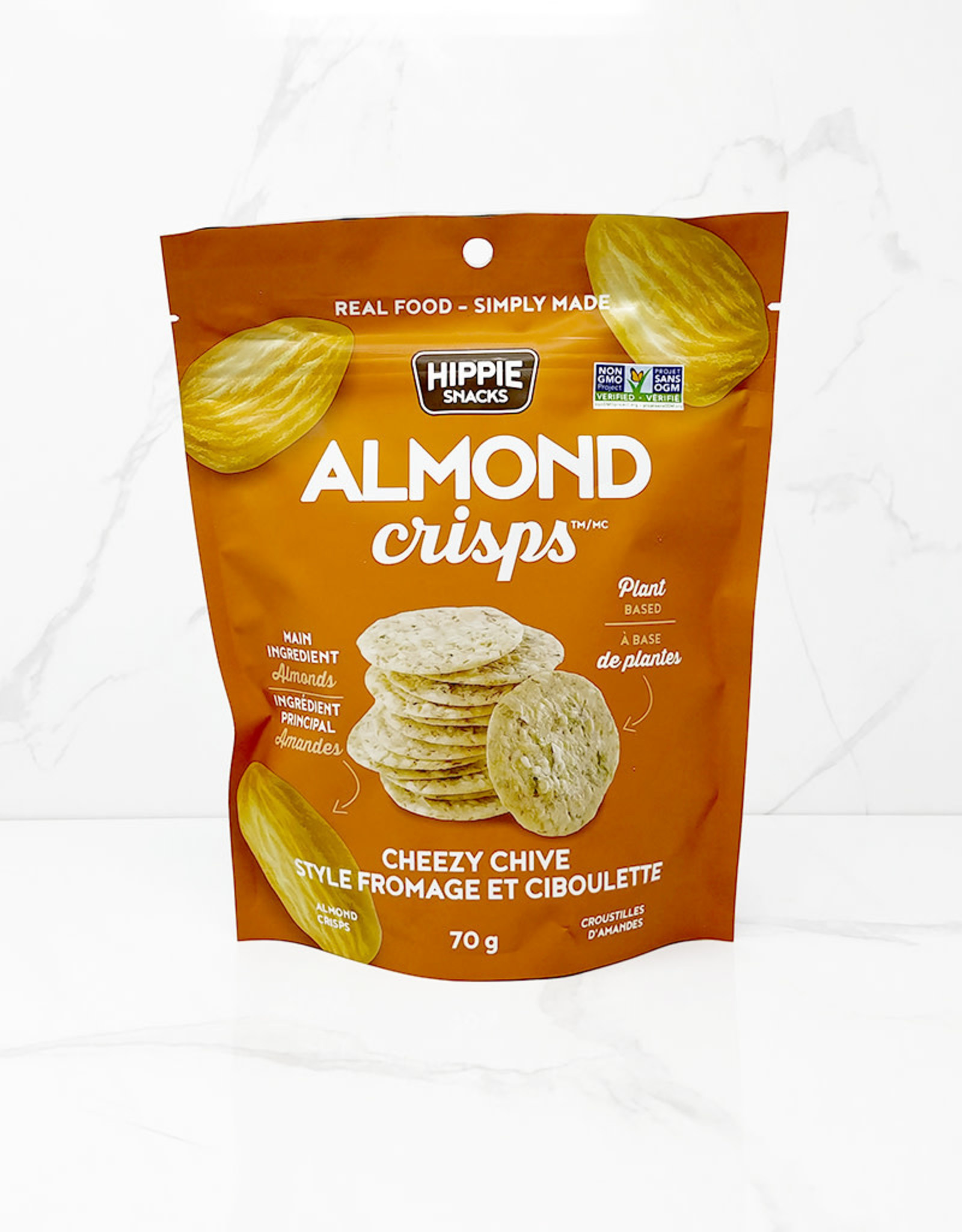 Hippie Snacks Hippie Snacks - Almond Chips, Cheesy Chive  (70g)