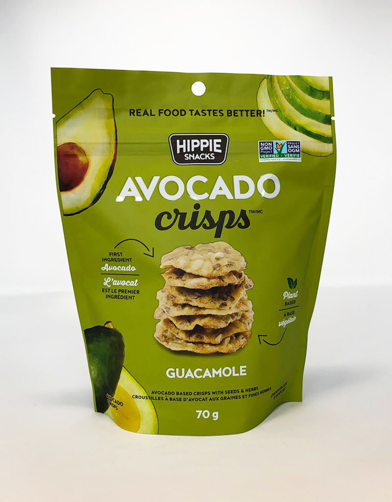 Hippie Foods Hippie Snacks - Avocado Crisps, Guacamole