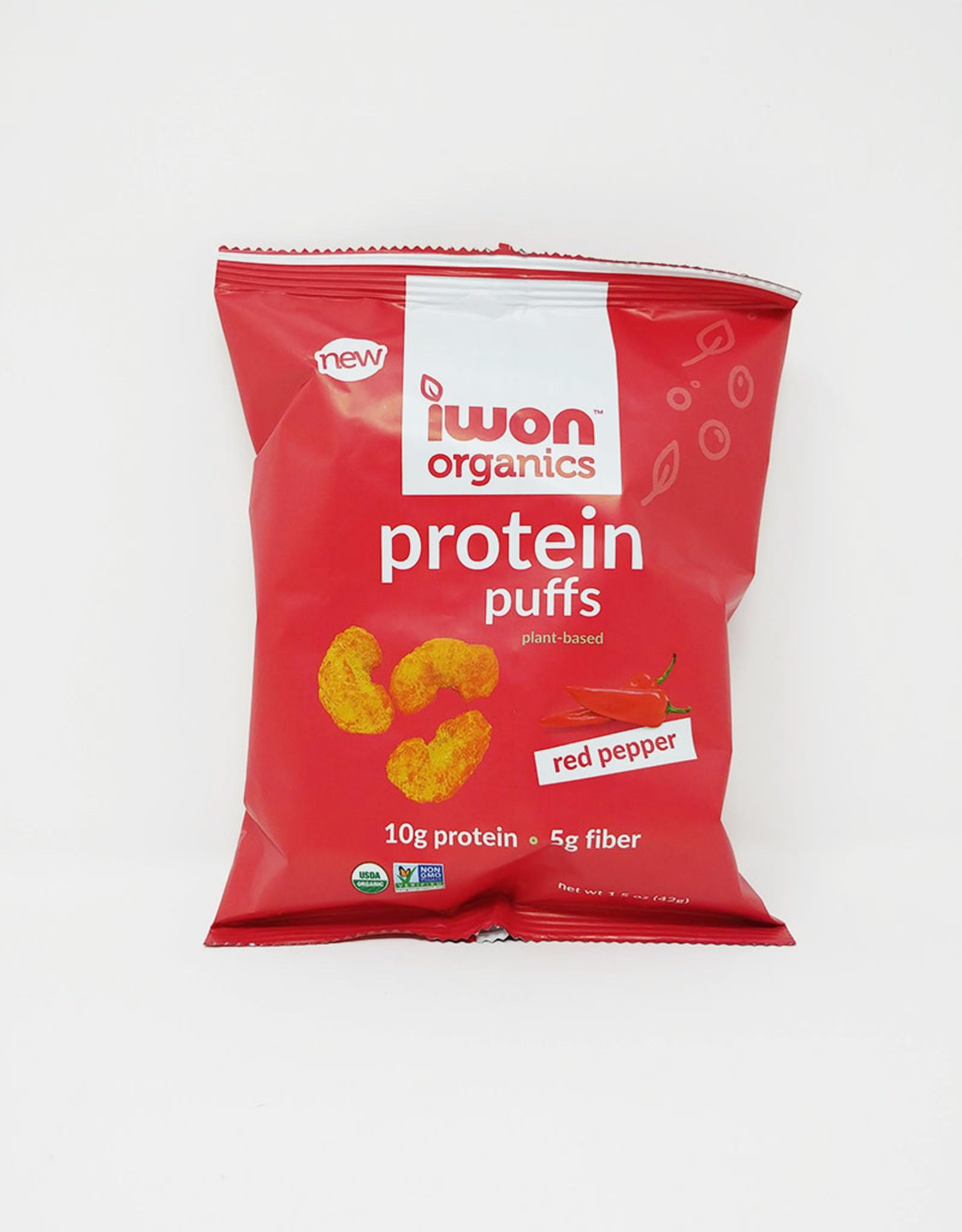 Iwon Organics Iwon Organics - Protein Puffs, Red Peppers (42g)