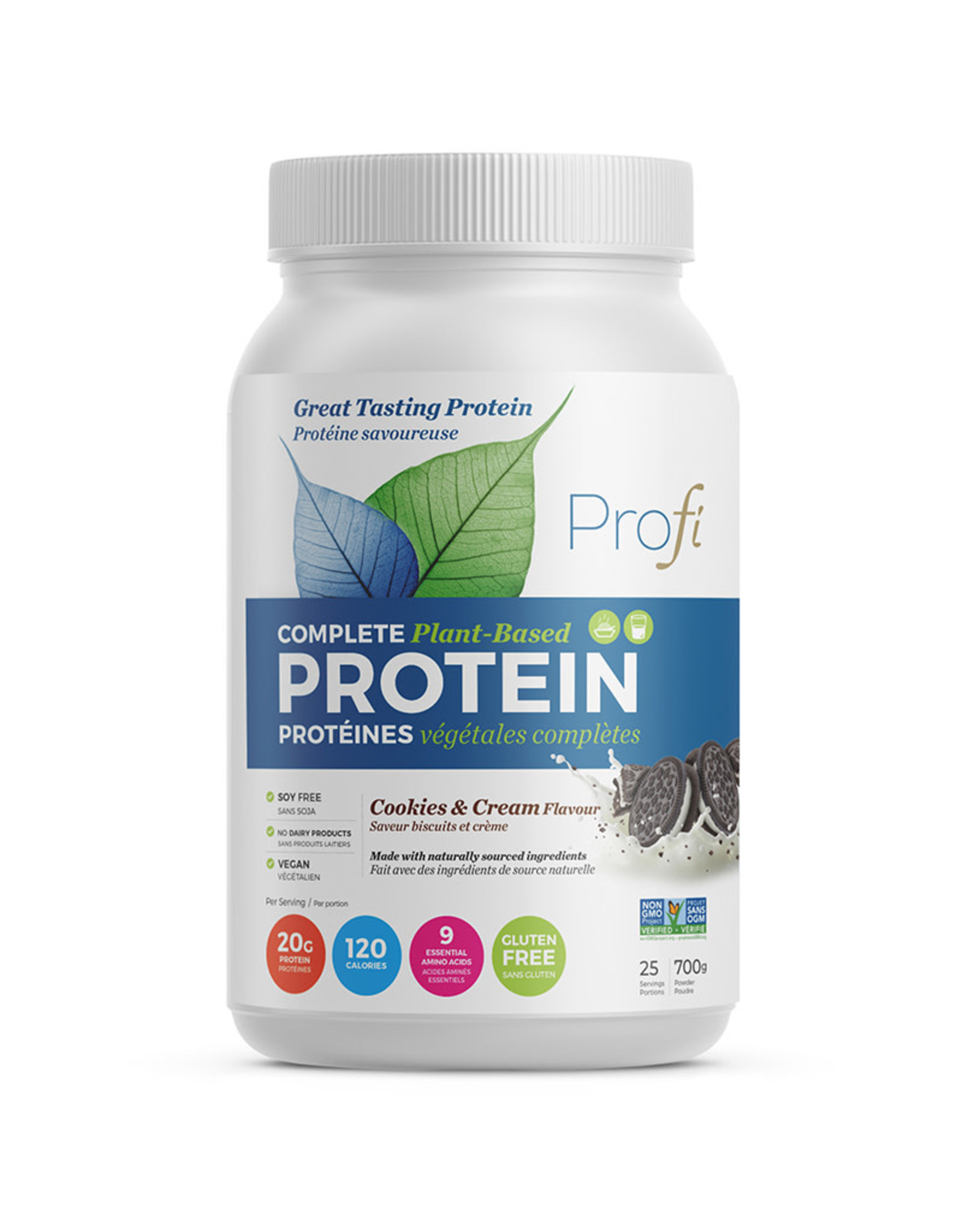 Profi Pro Inc Profi - Protein Powder, Cookies & Cream (700g)