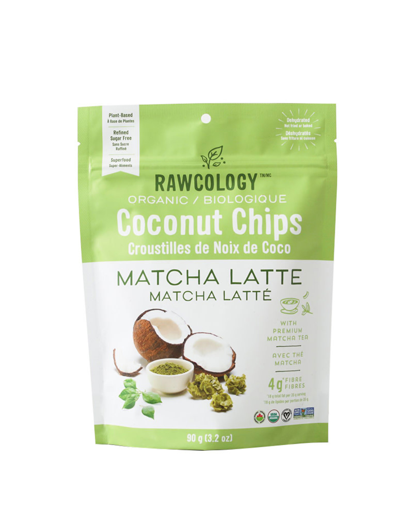 Rawcology Rawcology - Coconut Chips, Matcha Latte (90g)