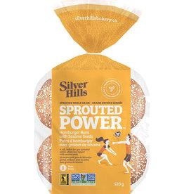 Silver Hills Bakery Silver Hills - Buns, Whole Grain Hamburger w/Sesame Seeds
