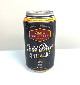 Station cold Brew Coffee Co. Station Cold Brew - Cold Brew Coffee, Mocha (355ml)