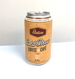 Station cold Brew Coffee Co. Station Cold Brew - Cold Brew Coffee, Vanilla (355ml)