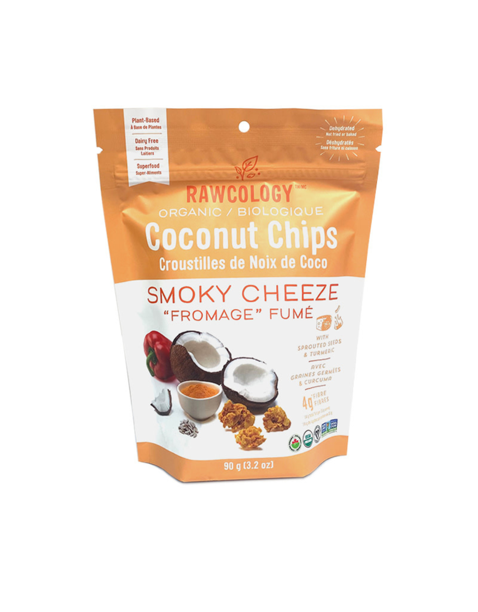 Rawcology Rawcology - Coconut Chips, Smoky Cheeze (90g)