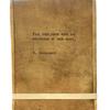 """Leather Journal - W. Wordsworth 7"""" x 9.75"""""""