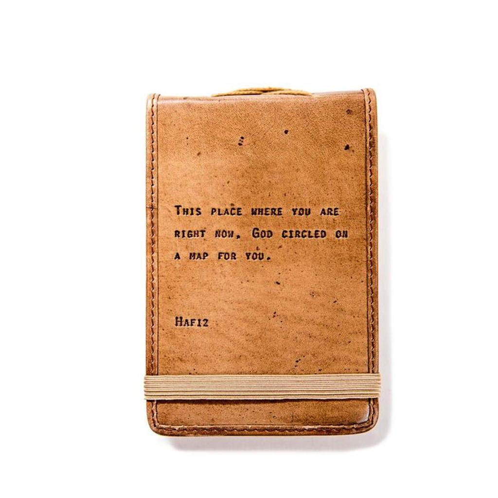 """Leather Journal Mini - Hafiz 4"""" x 6"""""""